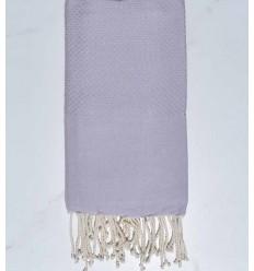 plain honeycomb Pale lavender beach towel