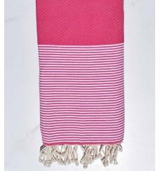 Strandtuch Wabe Fuchsia Pink