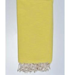 cubre cama flameado amarillo azufre 270*200