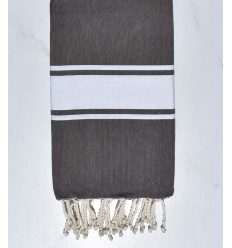 Beach towel flat brown bitumen