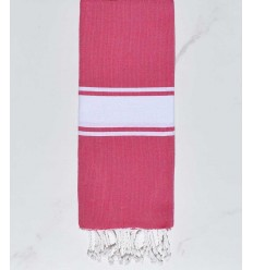 Child Fushia pink White strip