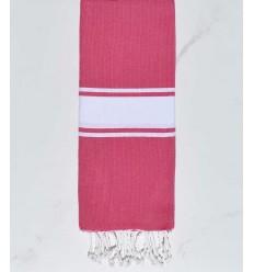 Enfant rose fushia bande blanche