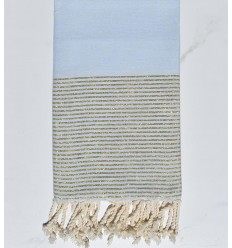 Beach towel pastel blue