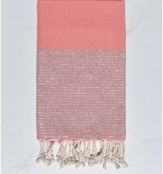 Beach towel pink watercolor