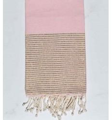 Plate rose pale avec lurex doré