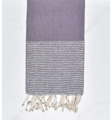 Beach towel flat lilac with silver lurex