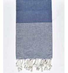 Plate bleu jean avec lurex argenté