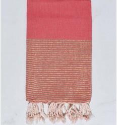 Beach towel flat pink nacarat