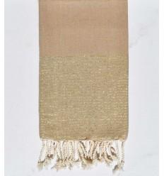 Beach towel flat glycine with golden lurex thread