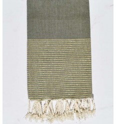 Beach towel flat glycine with golden lurex thread