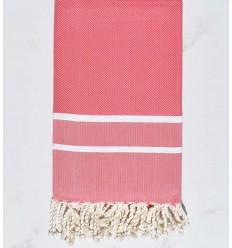 Chevron light pink beach towel