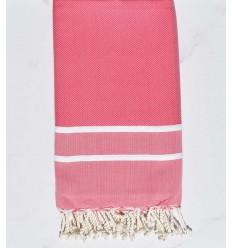 chevron strawberry rose beach towel