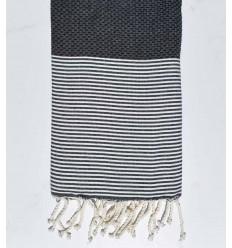 Beach towel Honeycomb petrol blue