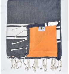 beach towel,doubled sponge blue jeans and apricot