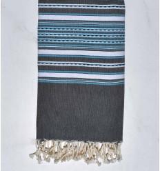 Arabesque gris ardoise ,blanc et bleu ciel