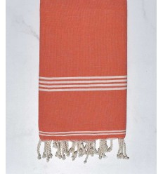 Fouta mykonos orange corail