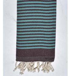 Beach towel zebra Honeycomb plum and azure
