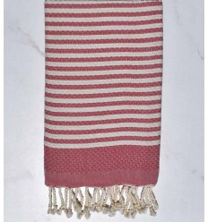 Beach towel zebra Honeycomb cream white and pink