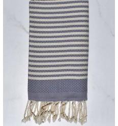 Beach towel zebra Honeycomb blue cart