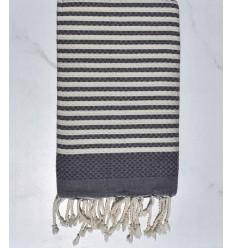 Beach towel zebra Honeycomb slate gray