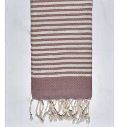 Beach towel zebra Honeycomb cream white, light pink and blue