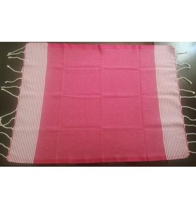 Lot de 10 serviettes de table rose foncé