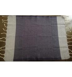 Lot de 10 serviettes de table bleu jean foncé