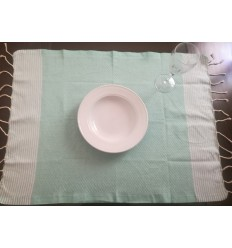 Lot de 10 serviettes de table couleur vert eau
