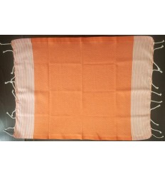 Lot de 10 serviettes de table orange