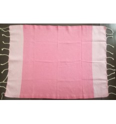 Lot de 10 serviettes de table rose clair