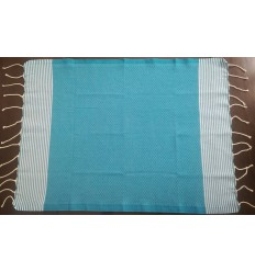 Lot de 10 serviettes de table bleu bondi