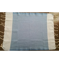 Lot de 10 serviettes de table bleu barbeau