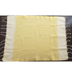 lot de 10 serviettes de table jaune