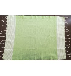 Lot de 10 serviettes de table vert anis