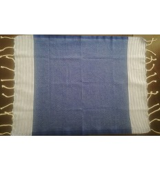 Lot de 10 serviettes de table bleu jean