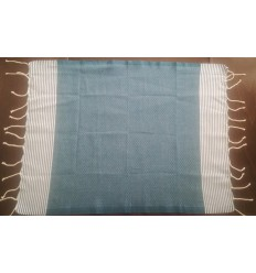 Lot de 10 serviettes de table bleu canard