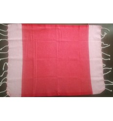 Lot de 10 serviettes de table rouge