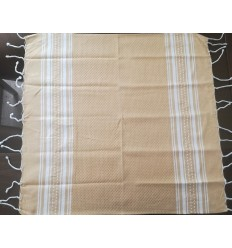 Lot de 10 serviettes de table beige