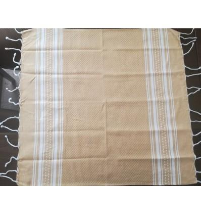 Lot de 10 serviettes de table beige