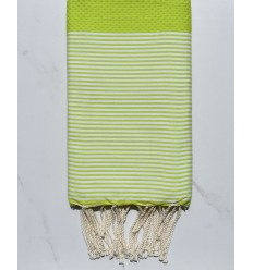 beach towel honeycomb lime punch fouta