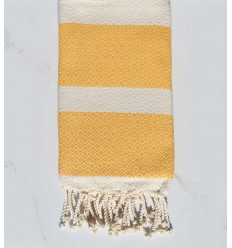 beach towel amber yellow and off-white chevron