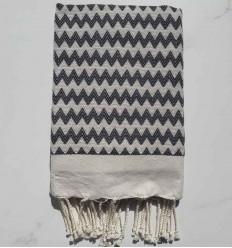 Zigzag dark slate blue beach towel