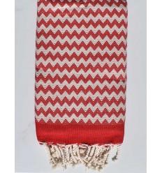 beach towel zigzag Red fire