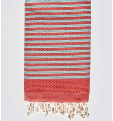 Beach towel zebra Honeycomb red and blue sky