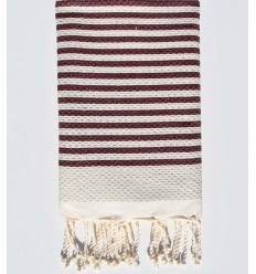honeycomb zebra dark amaranth fouta