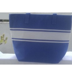 Blue beach bag