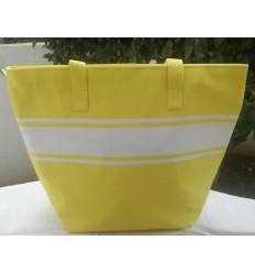 Neon yellow beach bag