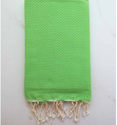plain honeycomb Yellow-green fouta