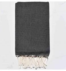 plain honeycomb dark slate gray beach towel