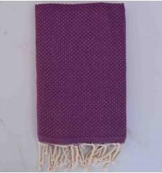 plain honeycomb dark magenta beach towel
